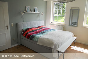 Blick ins Schlafzimmer des Bed and Breakfast